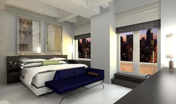 Guest suites bedroom