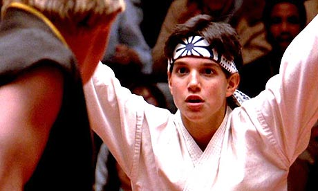 Karate Kid Ralph Macchio Crane Screenshot from The Karate Kid