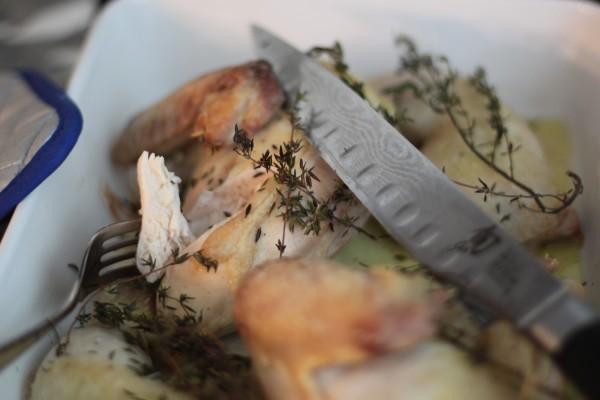 thymebaked chicken