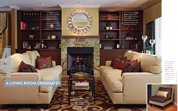 Some Designs Can Be Traced Back To One Touchstone, One Key Element That  Influences Every Other Aspect Of A Room. This Woodbury Living Room,  Designed By CP ...
