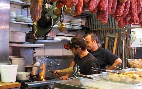 "Peter Capuano preparing ""Italian marshmallows."""