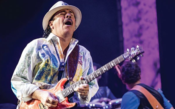 For Santana, music and spirituality are inseparable. Image: Erik Kabik/ RCA Records