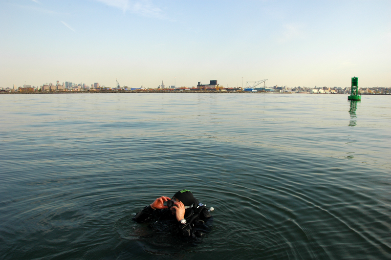 East River Scuba Diver. image: flickr creative commons/shootingbrooklyn
