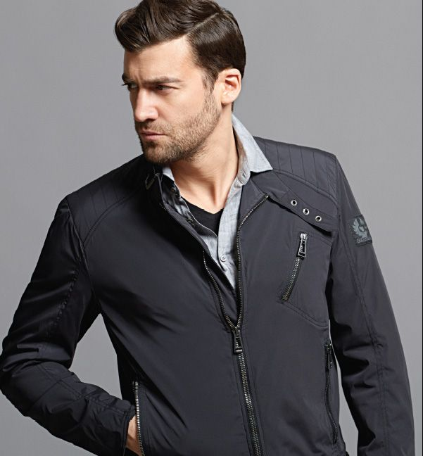 Belstaff K Racer blouson jacket John Varvatos linen shirt Available at Tyrone