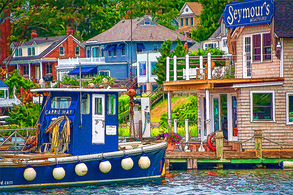Seymour's Boatyard by Holly Gordon