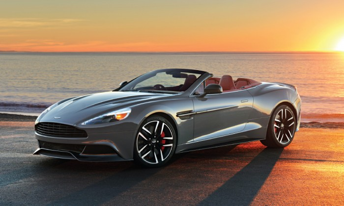 Portrait Of A Supercar Aston Martin Vanquish Volante Long - Aston martin long island