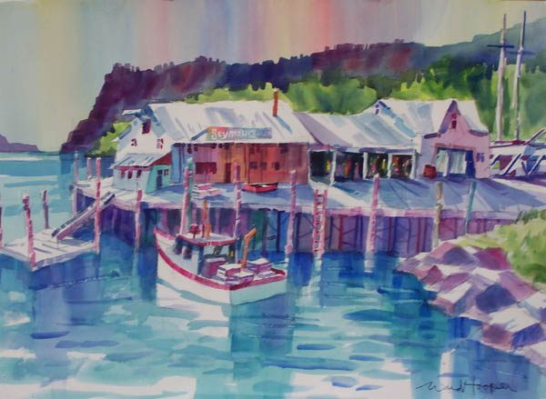 Seymour's Boatyard by Ward Hooper