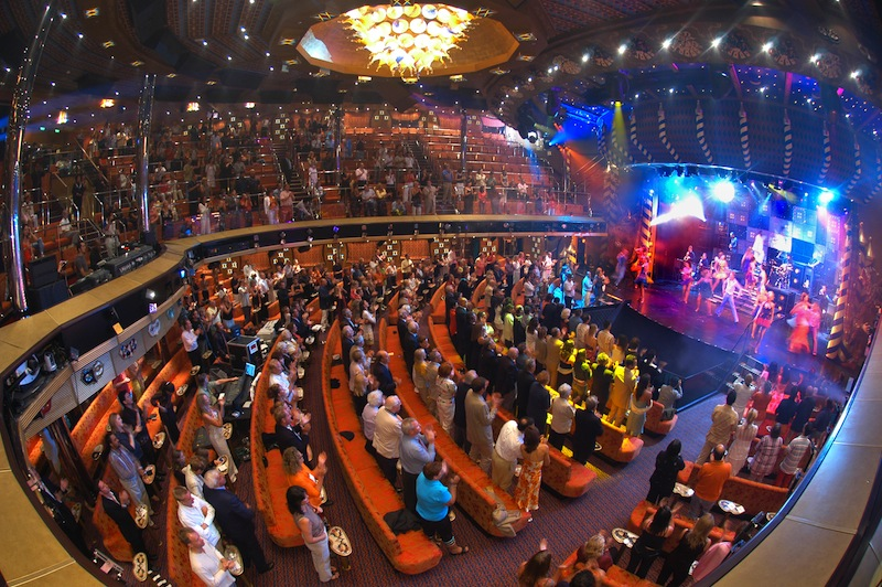 Carnival Liberty's intimate theater. image: andy newman/carnival cruise lines