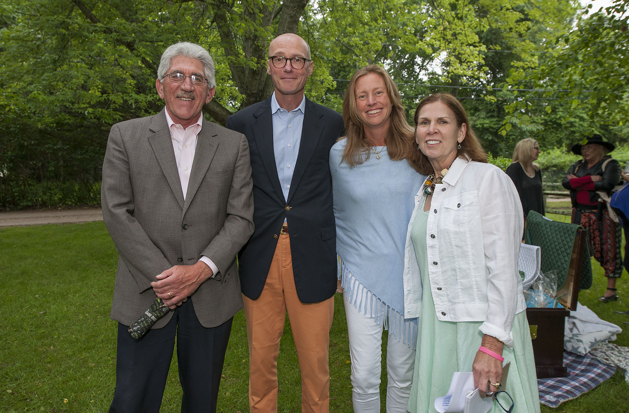 image: larry cantwell, dan mongan, anna bernasek and event chair maureen bluedorn at the benefit (credit: michael heller)