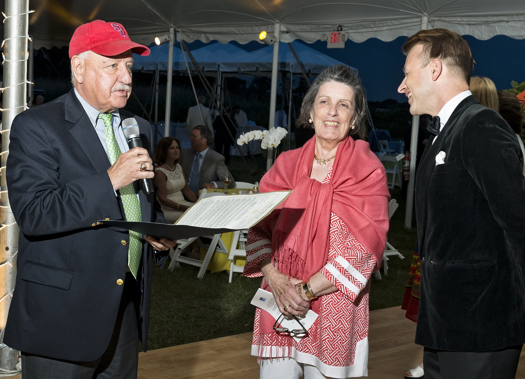 image: senator kenneth p. laValle, president and ceo of eeh priscilla ruffin and emcee and poet lucas hunt
