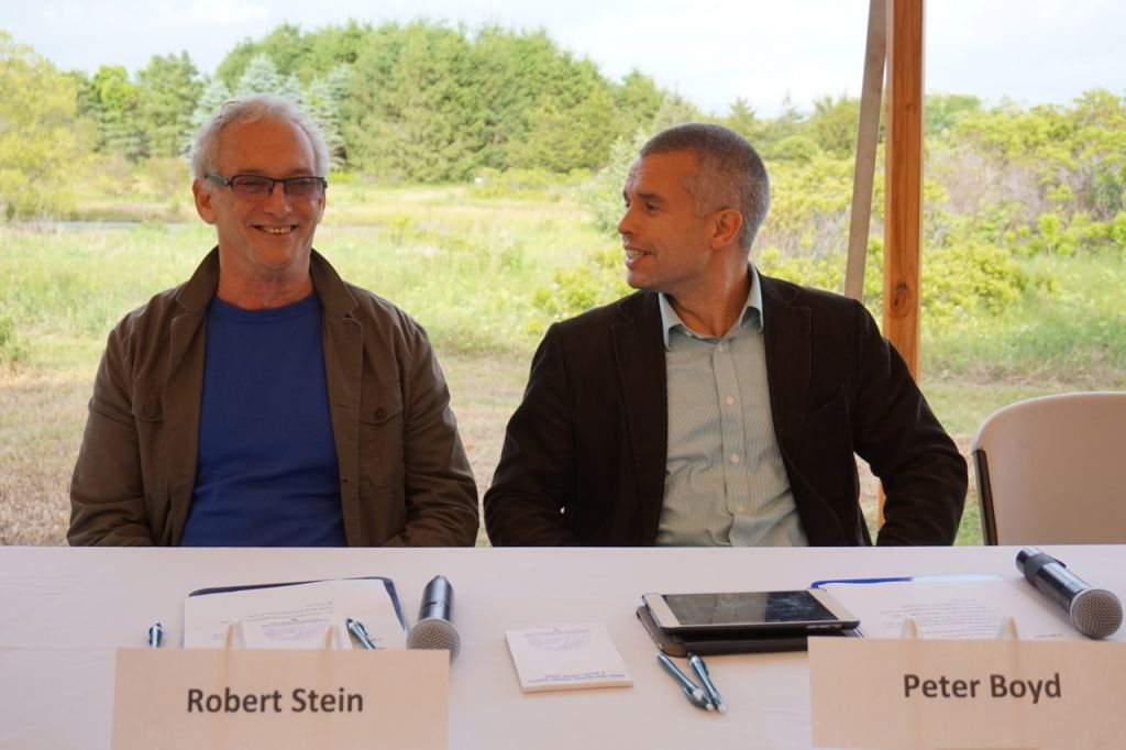 images: panelists robert stein and peter boyd (credit: kimberly goff)