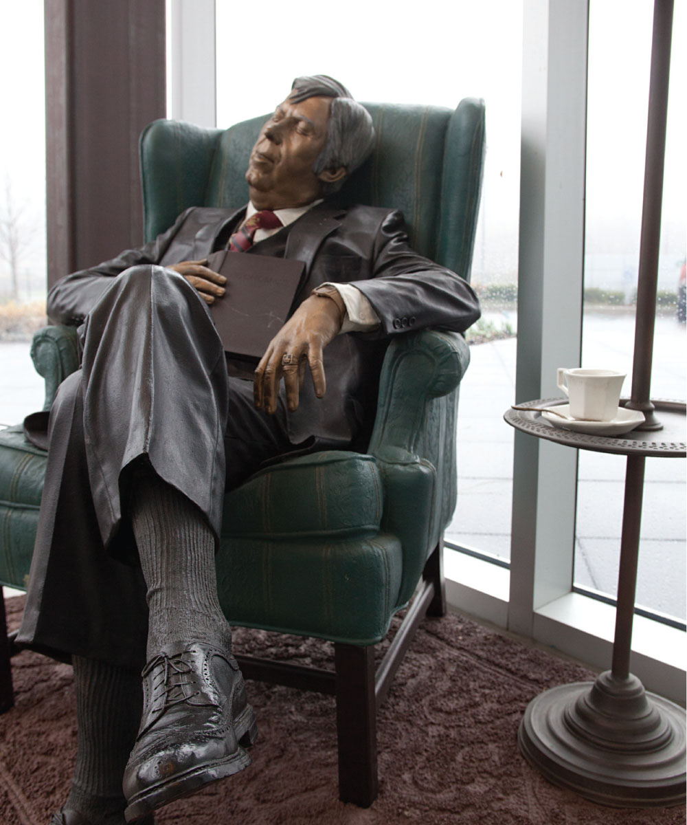 "Seward Johnson, ""After Lunch"""", life-size statue in bronze"