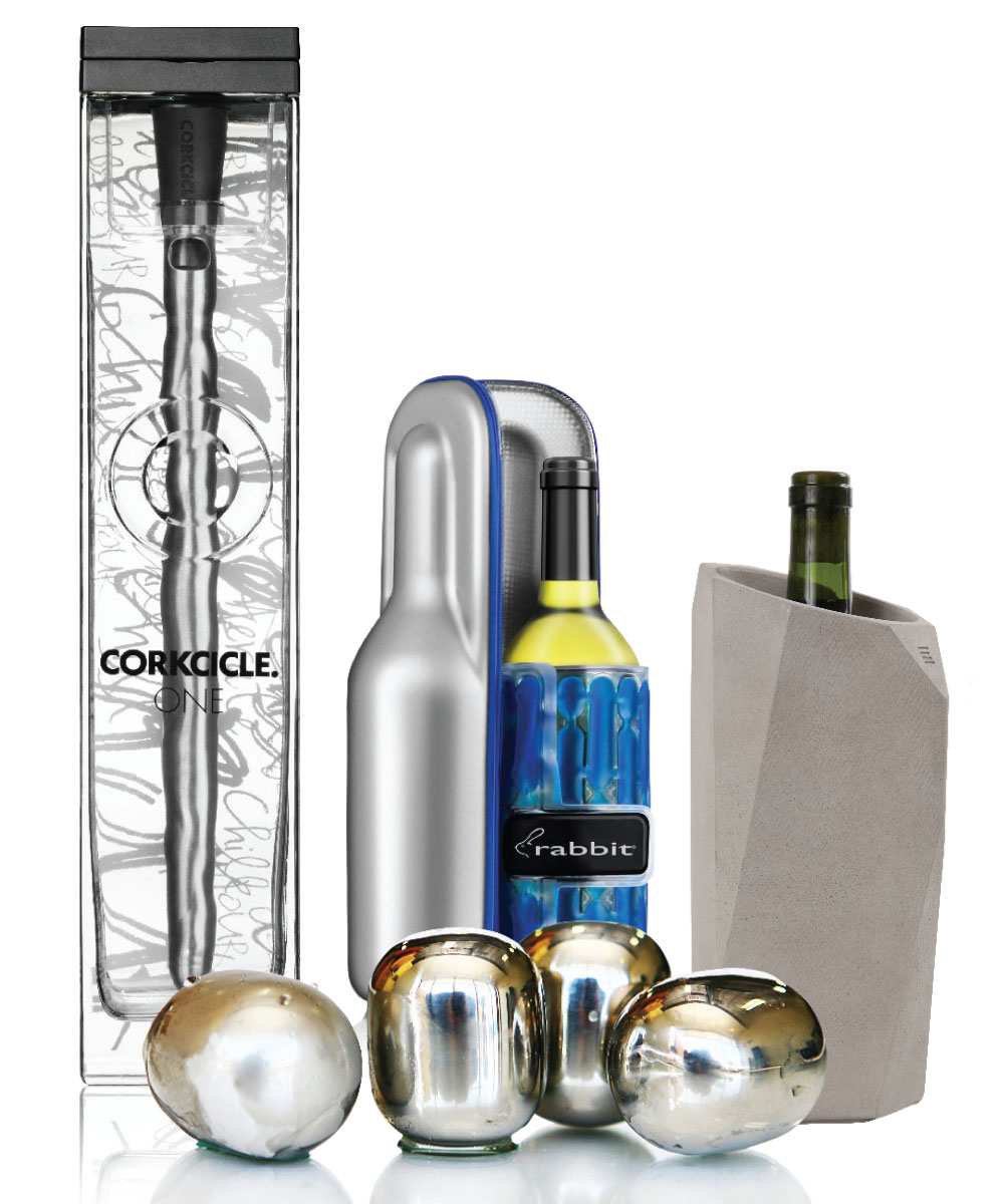 Our lineup of vineal products keeps wine at temperature with cool style and function—batteries not required
