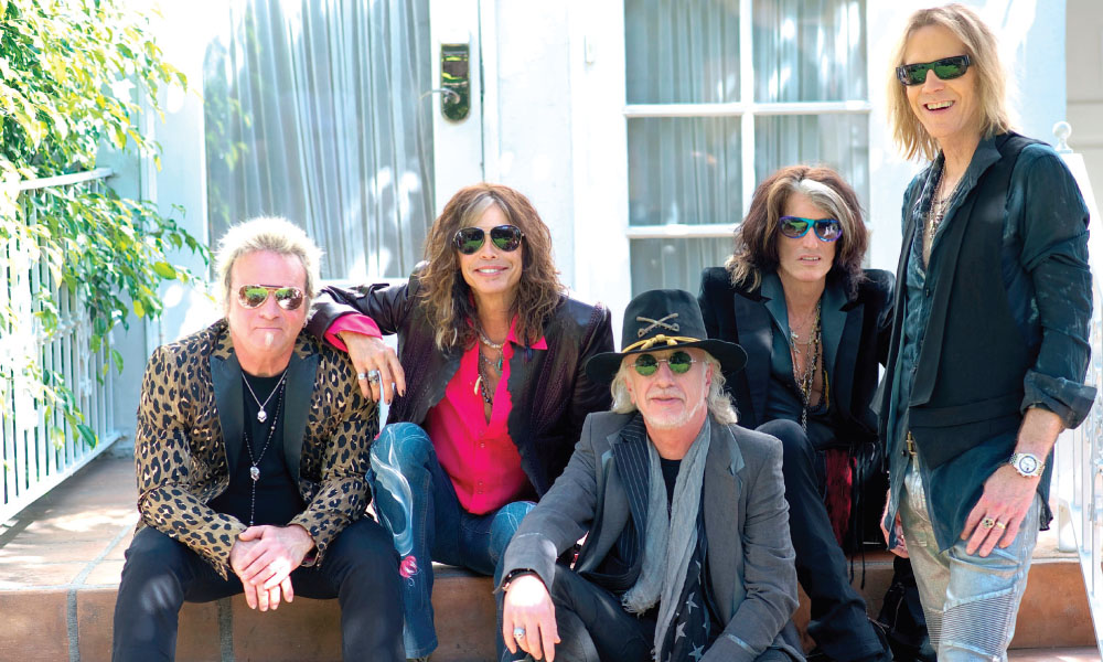 Aerosmith is still all smiles after over four decades of rock 'n' roll. This year's Blue Army Tour celebrates the 40th anniversary of their seminal album  Toys in the Attic. image: ross halfin