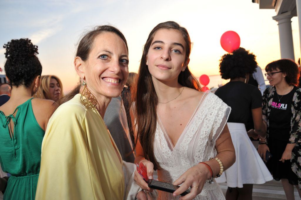 image: designer bonnie young with daughter and musical guest celia babini
