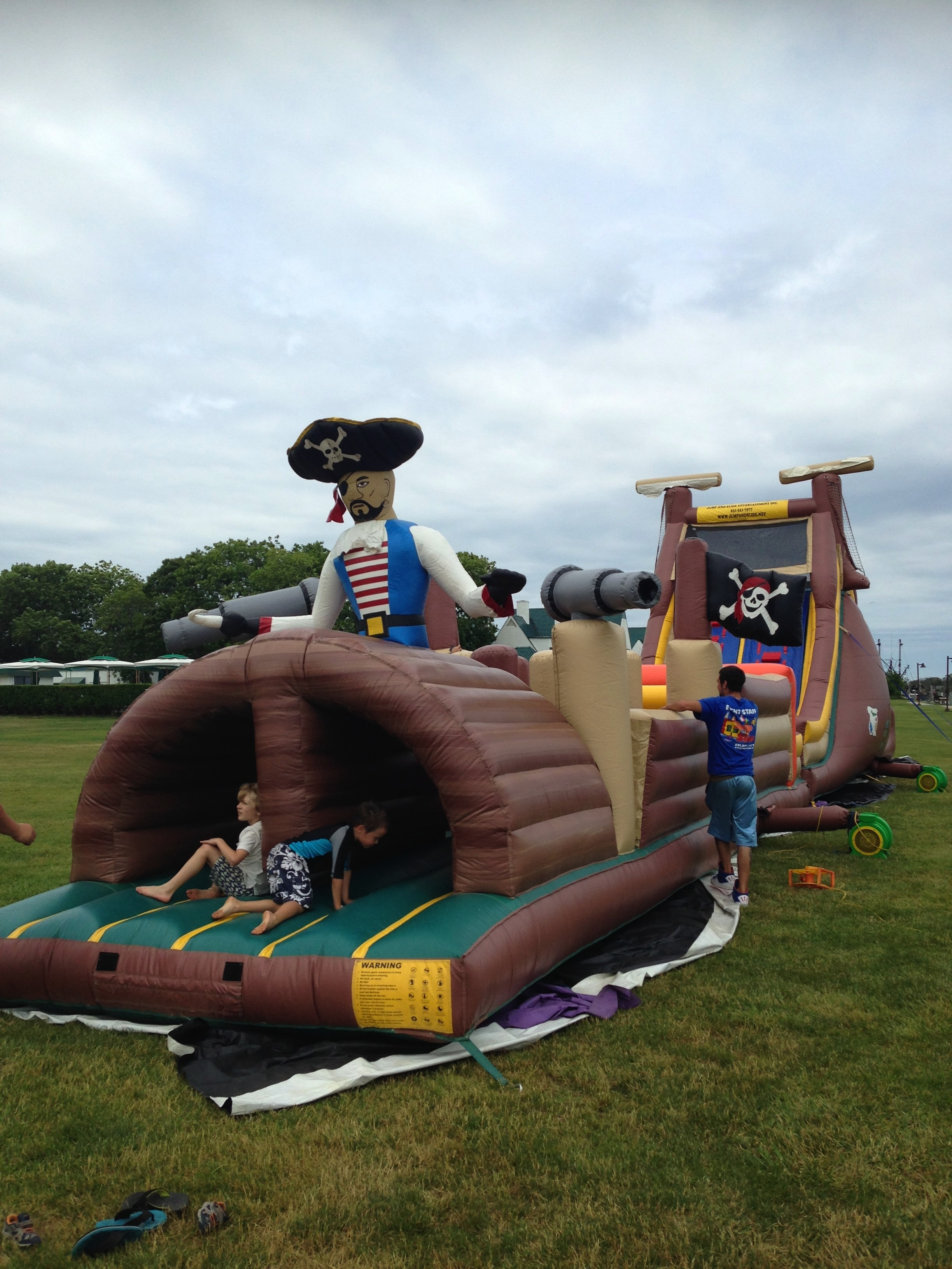 image: pirate bounce house at montauk yacht club