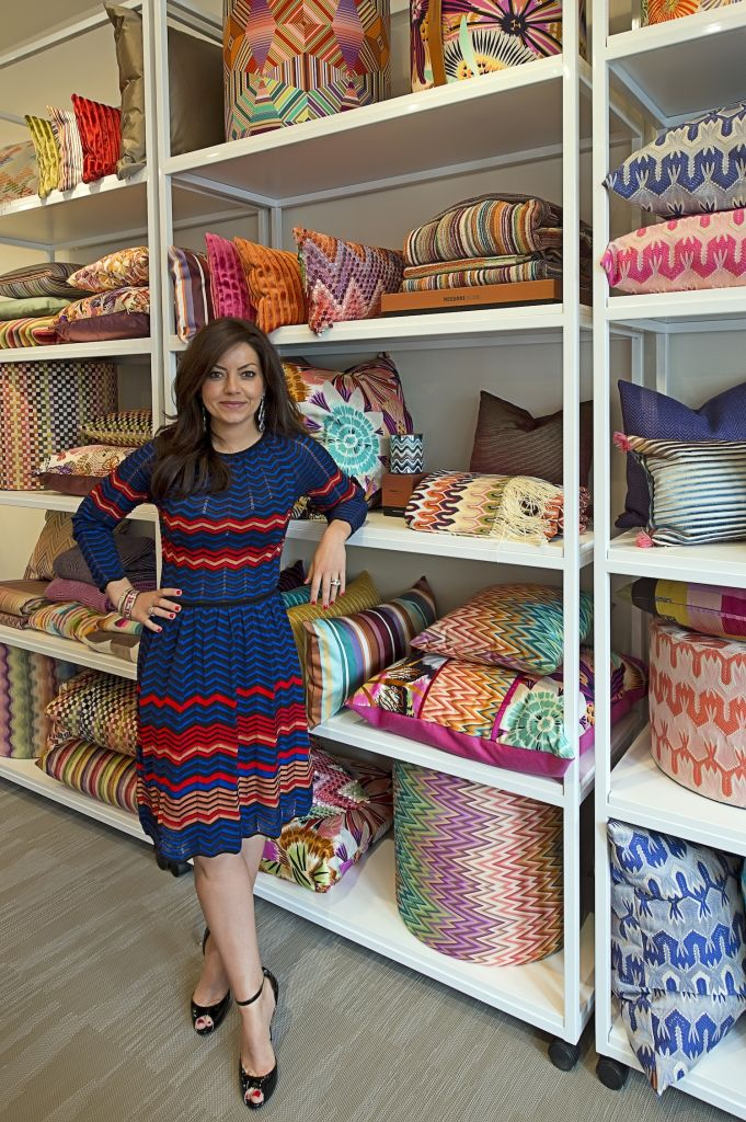 image: roxane mosleh inside her new southampton shop