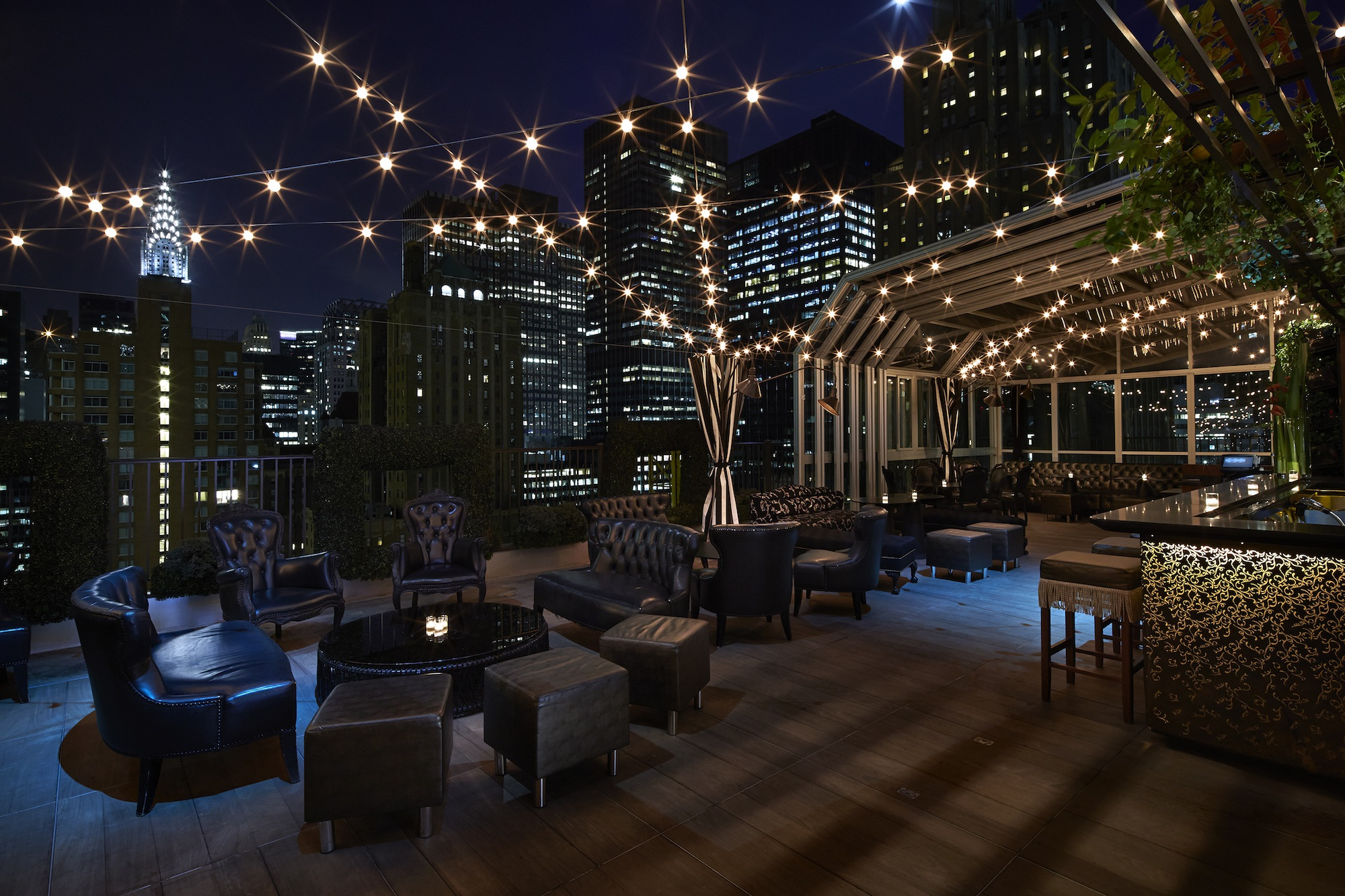 The 2016 ultimate guide to nyc rooftop bars long island for Jardin madison menu