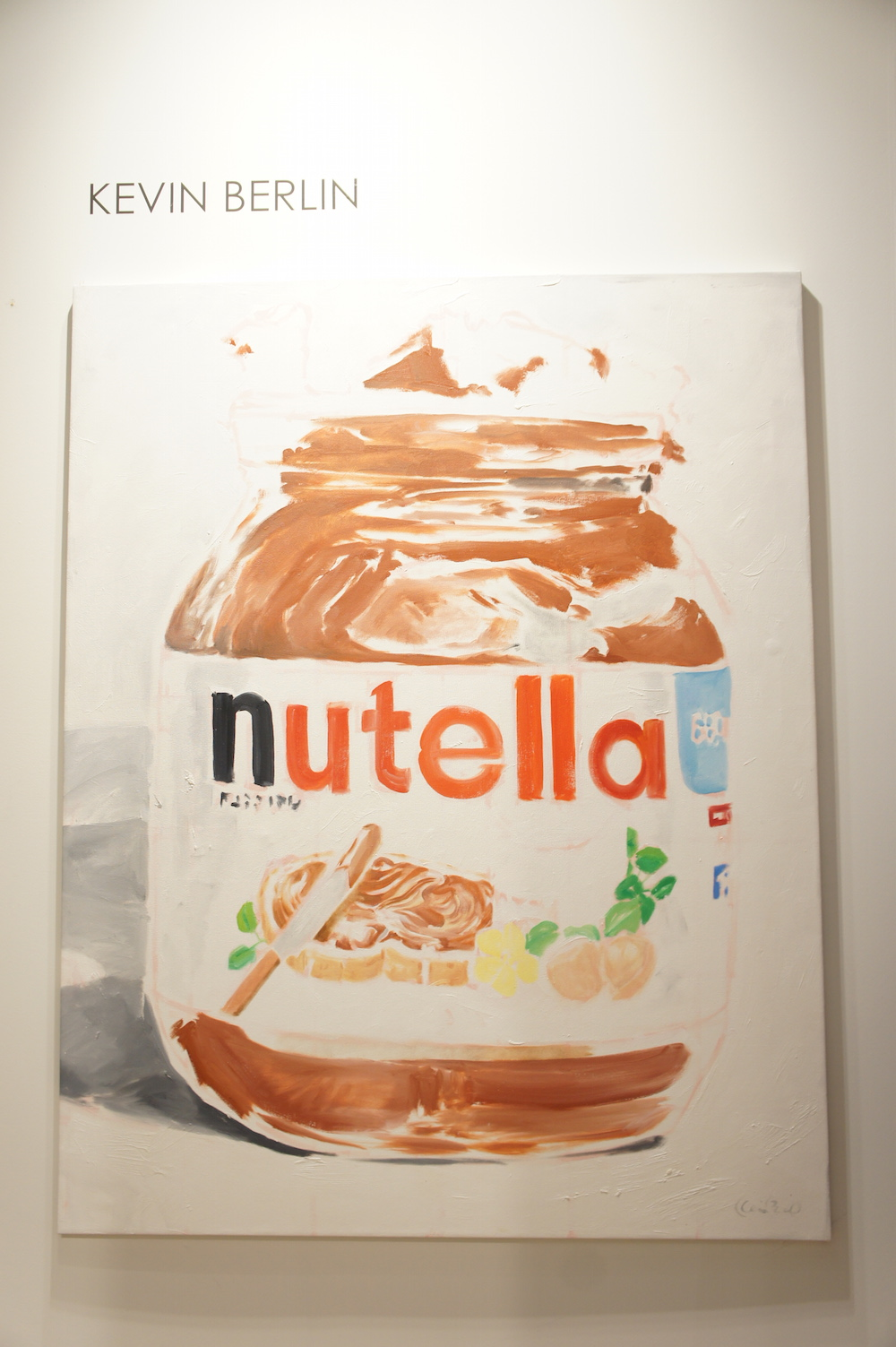 Kevin Berlin, Nutella 640 gr, 2015, Oil on canvas, Vogelsang Gallery image: rachel kalina