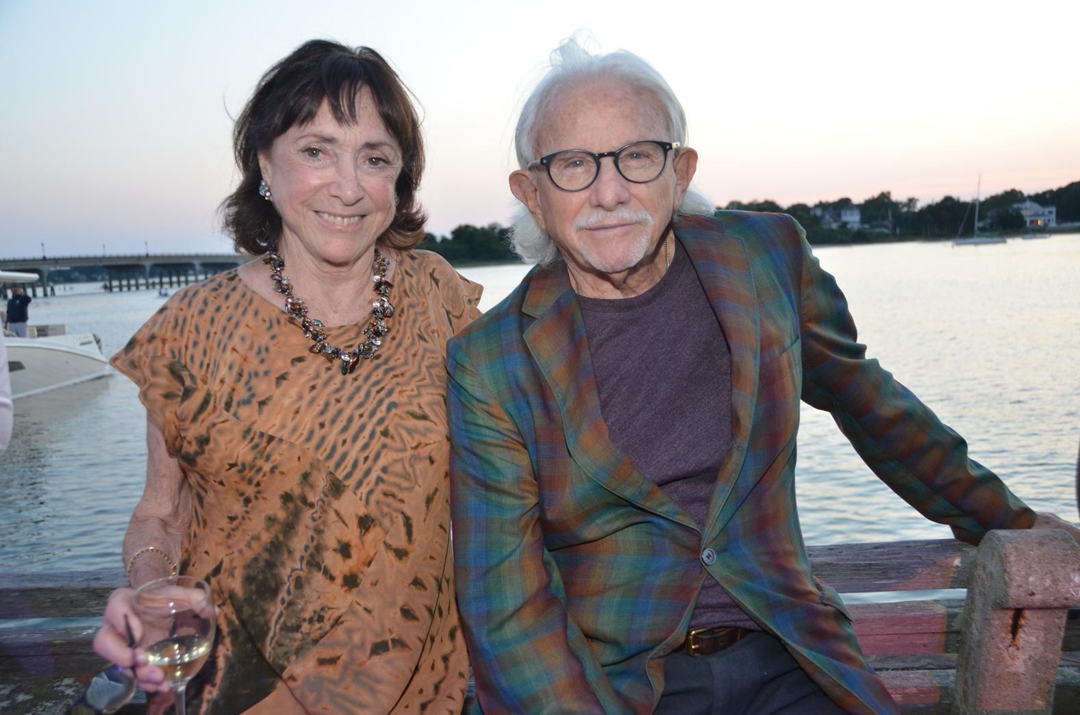 Ana Daniel with co-honoree Joe Pintauro (image: barry gordin)