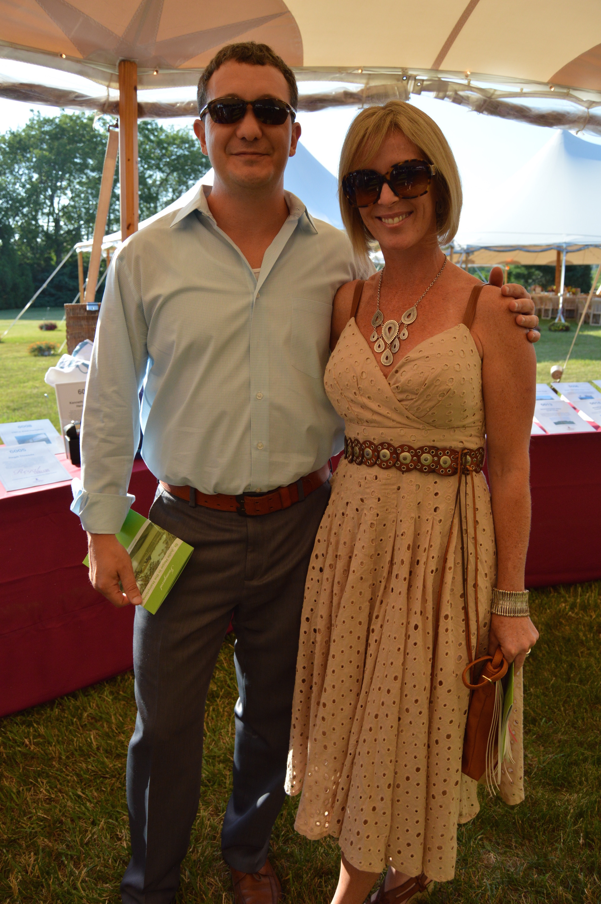 Bill and Brook Cracco at the St. Jude Children's Research Hospital fundraiser, Hope in the Hamptons. image: vanessa pinto