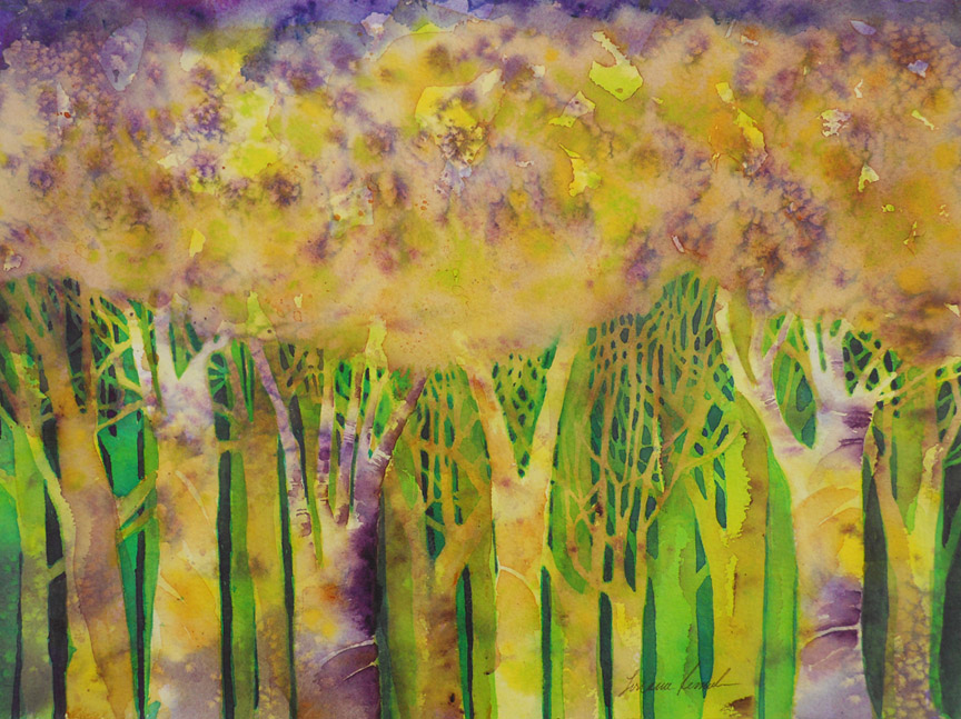 image: Enchanted Forest (copyright Lorraine Rimmelin 2015, watercolorartisan.com)