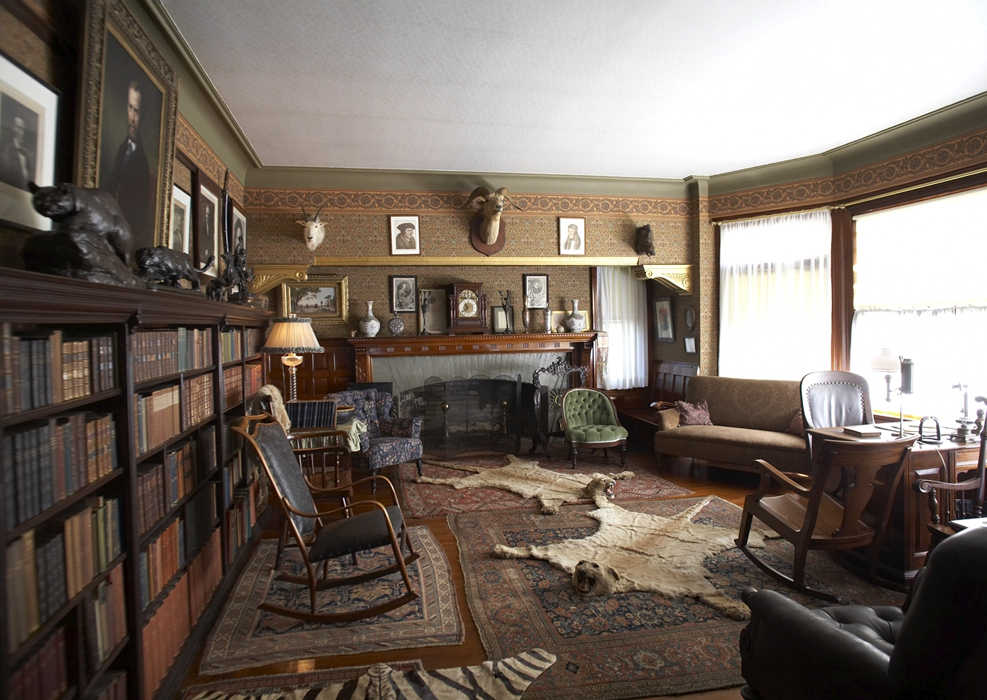 Roosevelt's home at Sagamore Hill is home to thousands of books. image: sagamore hill national historic site