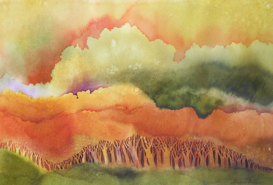 image: Woodlands (copyright Lorraine Rimmelin 2015, watercolorartisan.com)