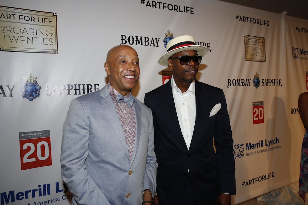 image: Russell Simmons and Dave Chappelle (credit: getty images)