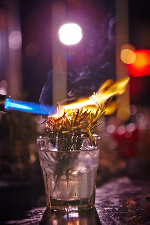 The Queens Bush, a rosemary infused cocktail, is the signature drink. image: queen of the night