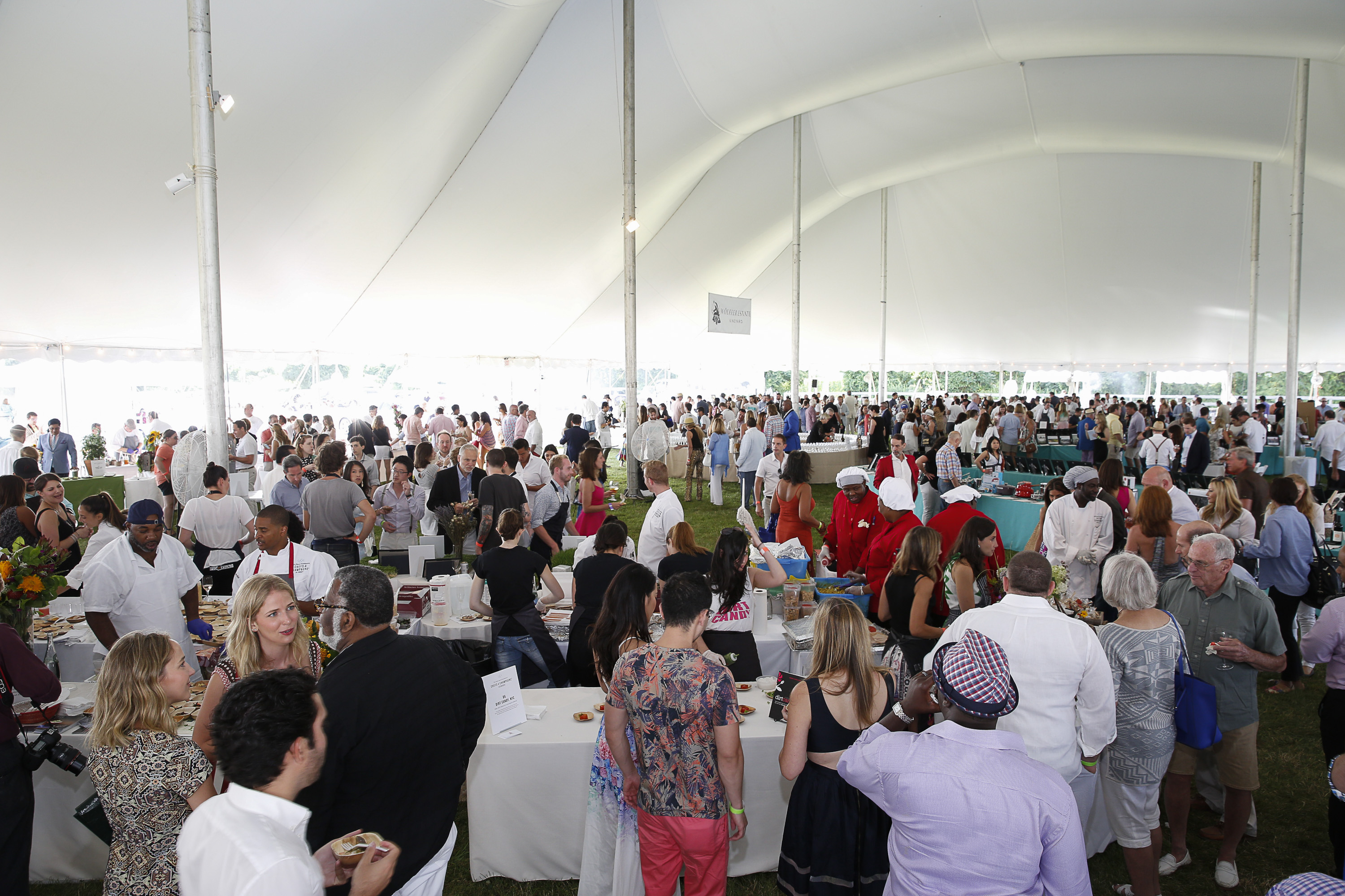 Atmosphere seen at James Beard Foundation's Chefs & Champagne at Wolffer Estate on Saturday, July 25, 2015 in Sagaponack, N.Y. (credit: mark von holden/invision for james beard foundation/ap Images)