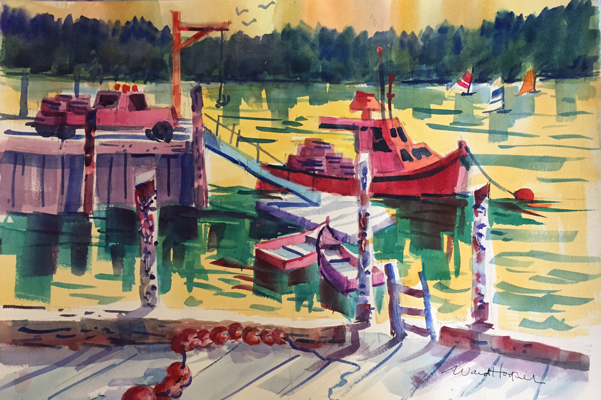 """Dockside,"" by Ward Hooper"