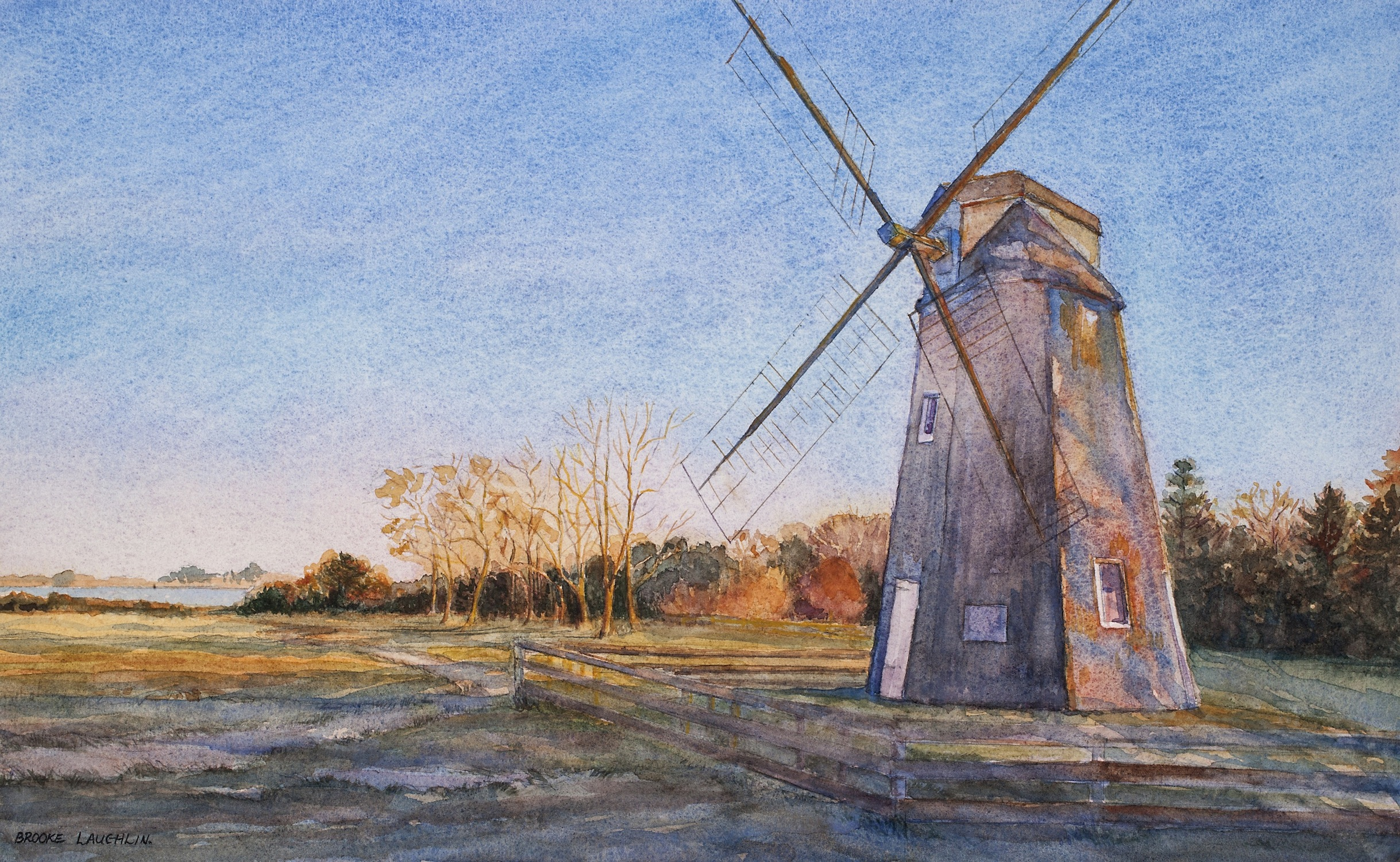image: Brooke Laughlin Gardiner Windmill, 2015 Watercolor
