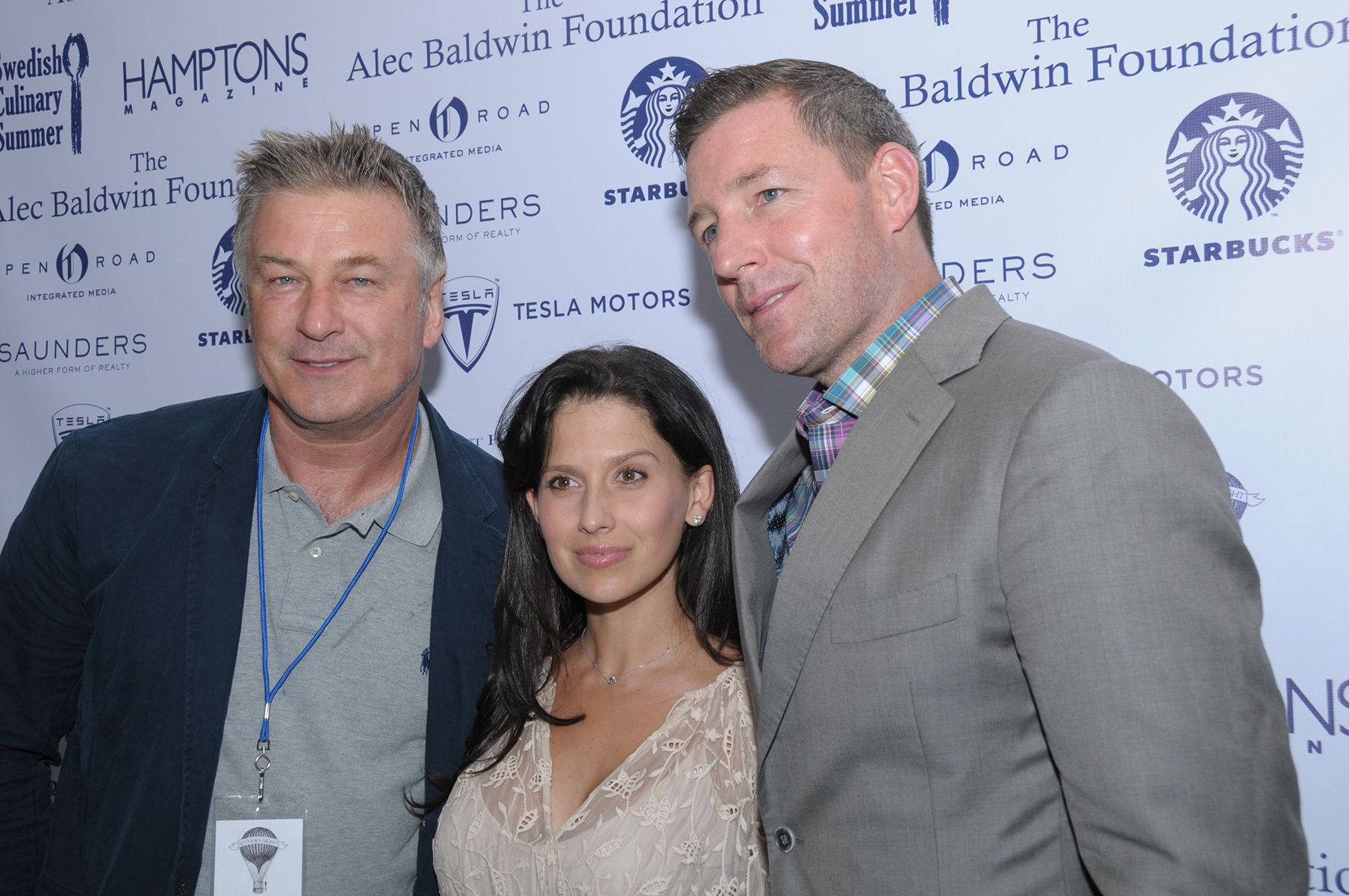 Alec & Hilaria Baldwin with Edward Burns at Authors Night (credit: richard lewin photography)