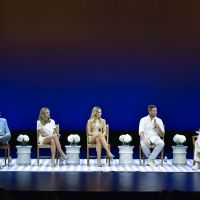 Wass Stevens, Elizabeth Masucci, Katrina Bowden and Edward Burns take part in a Q&A about Public Morals with HIFF's David Nugent. image: eugene gologursky/getty images for hamptons international film festival.