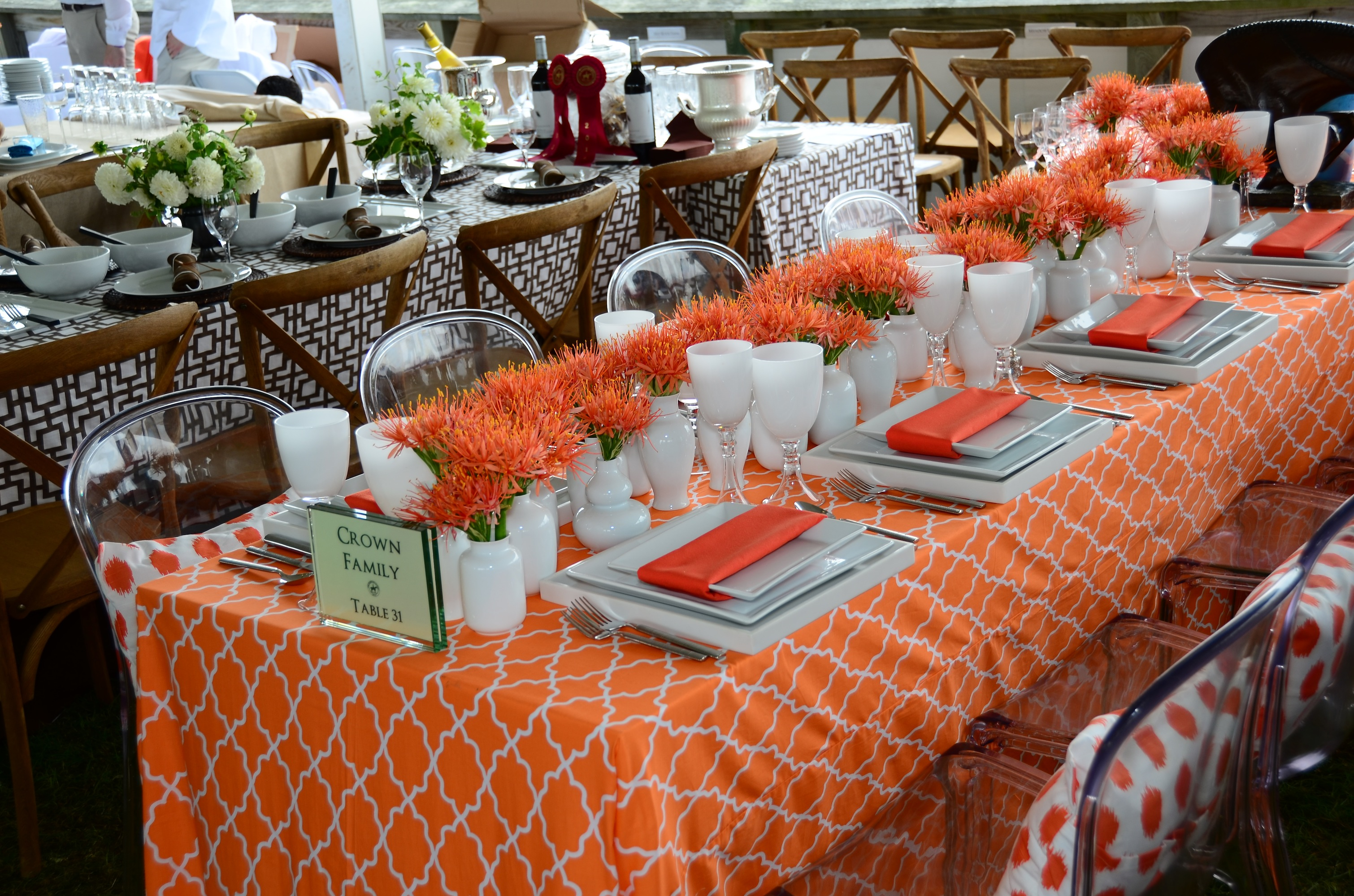The Hamptons classic boasts great food and wine and beautiful place settings