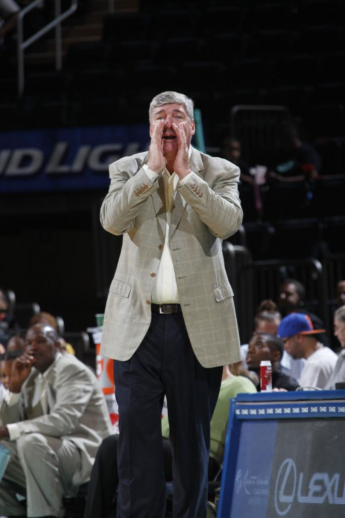 Laimbeer coaches the New York Liberty vs. the San Antonio Stars at Madison Square Garden (credit: msg photo services)