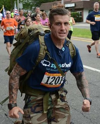 Richards will run the first-ever Suffolk County Marathon with a 45-pound backpack