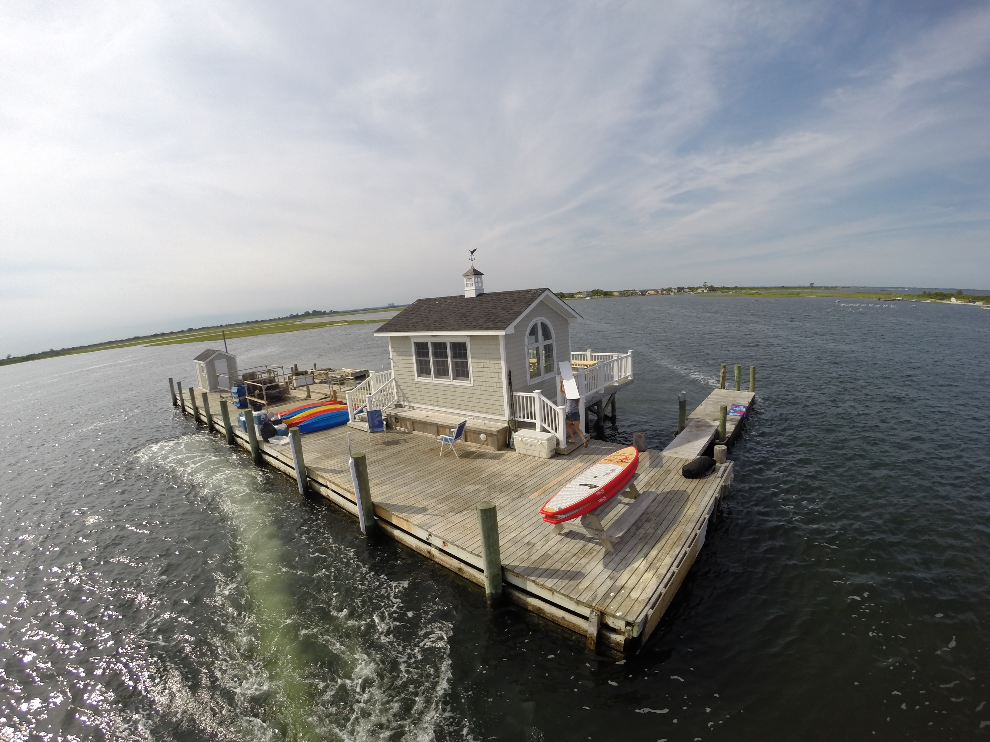 image: the blue oyster island company dock and farm (credit: blue oyster island company)