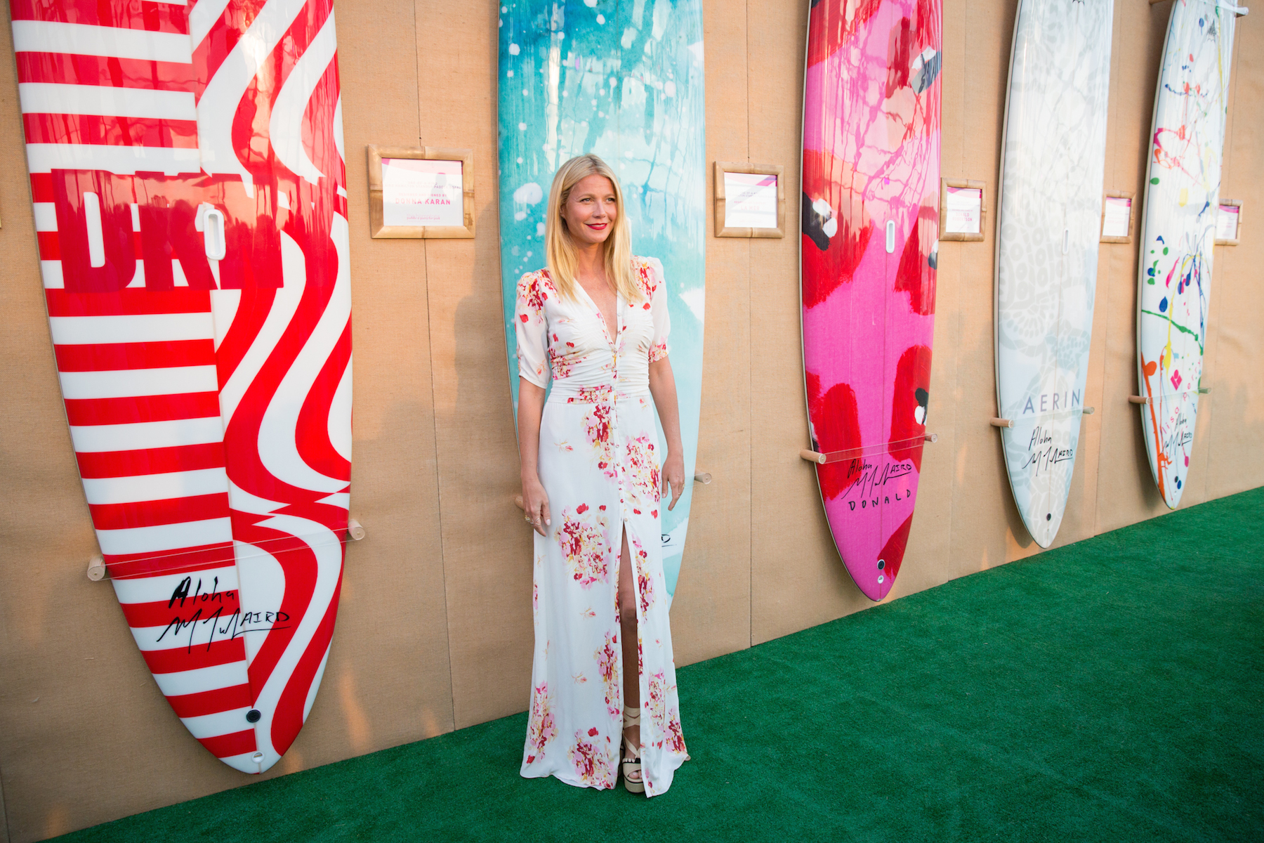 Gwyneth Paltrow makes a surprise appearance at Paddle for Pink (credit: michael blanchard)