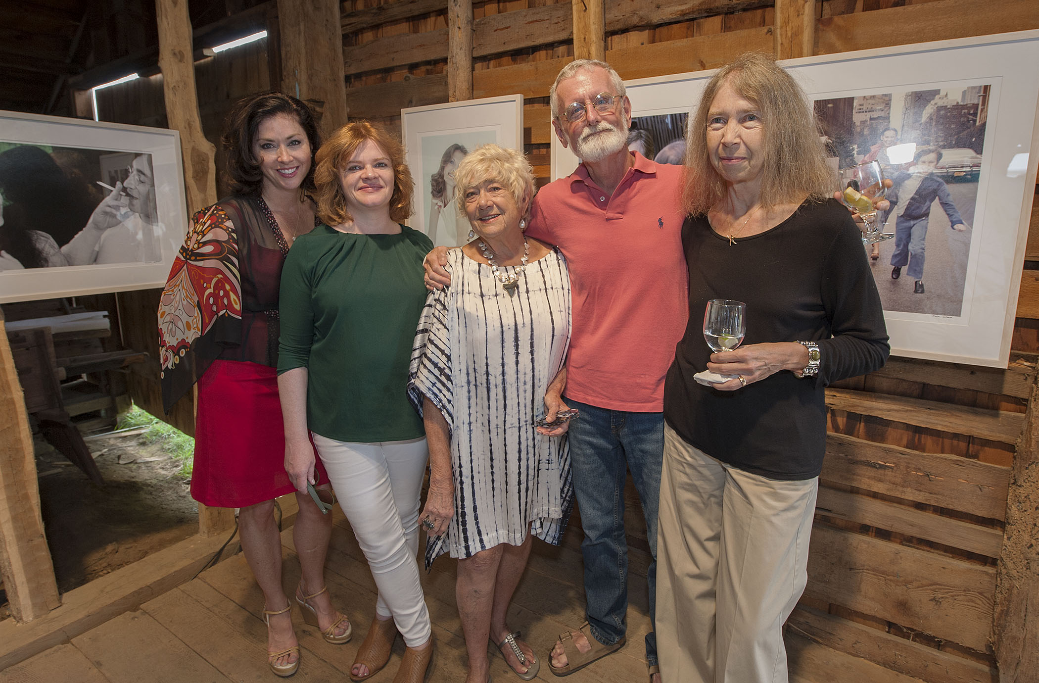 Lynn Stefanelli, curator Deidre Brennan, Susan Wood, Richard Barons (Director of the East Hampton Historical Society) and Roseanne Barons (credit: michael heller)