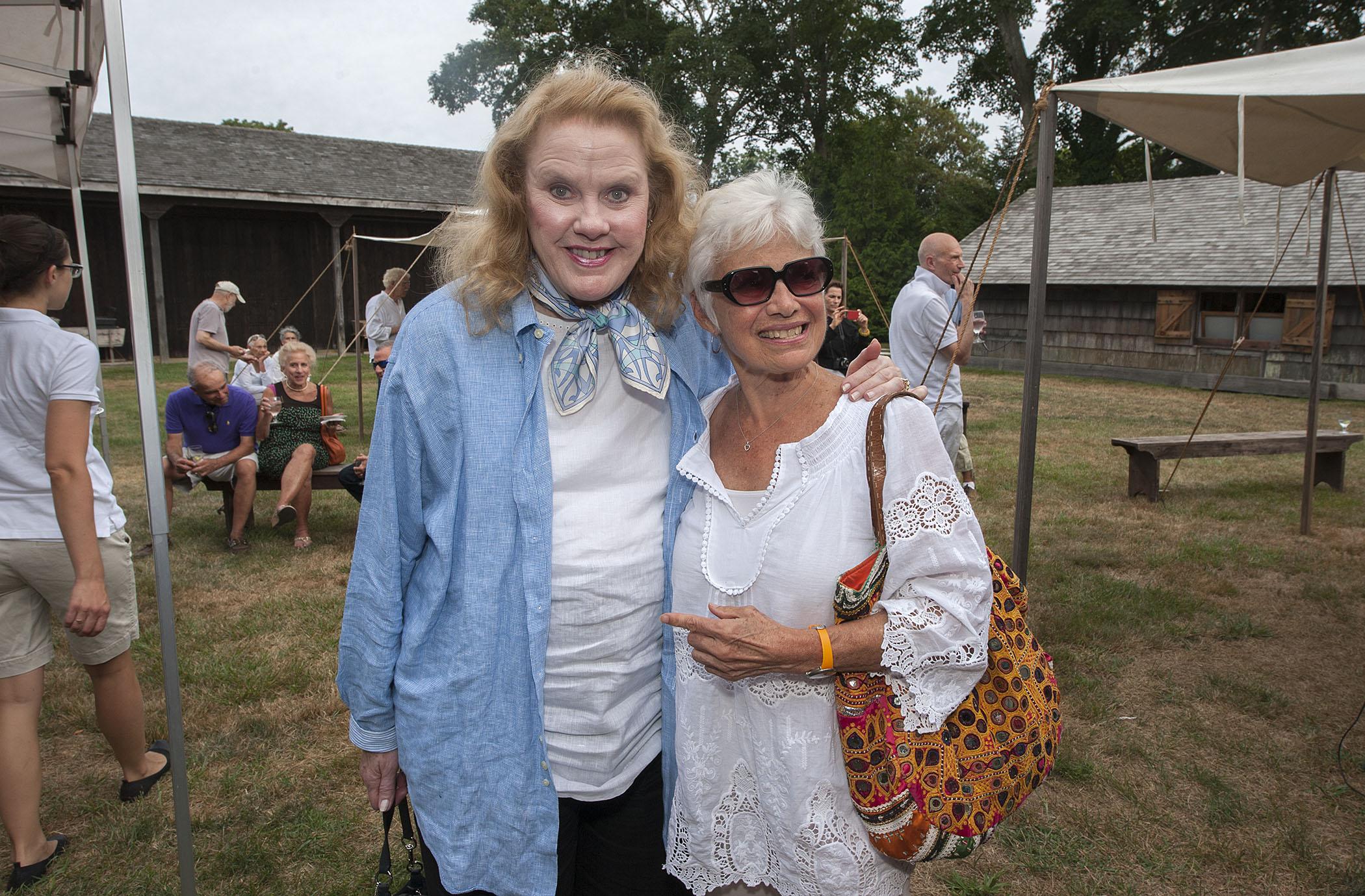 Actress Celia Weston and Vickie Umans (credit: michael heller)