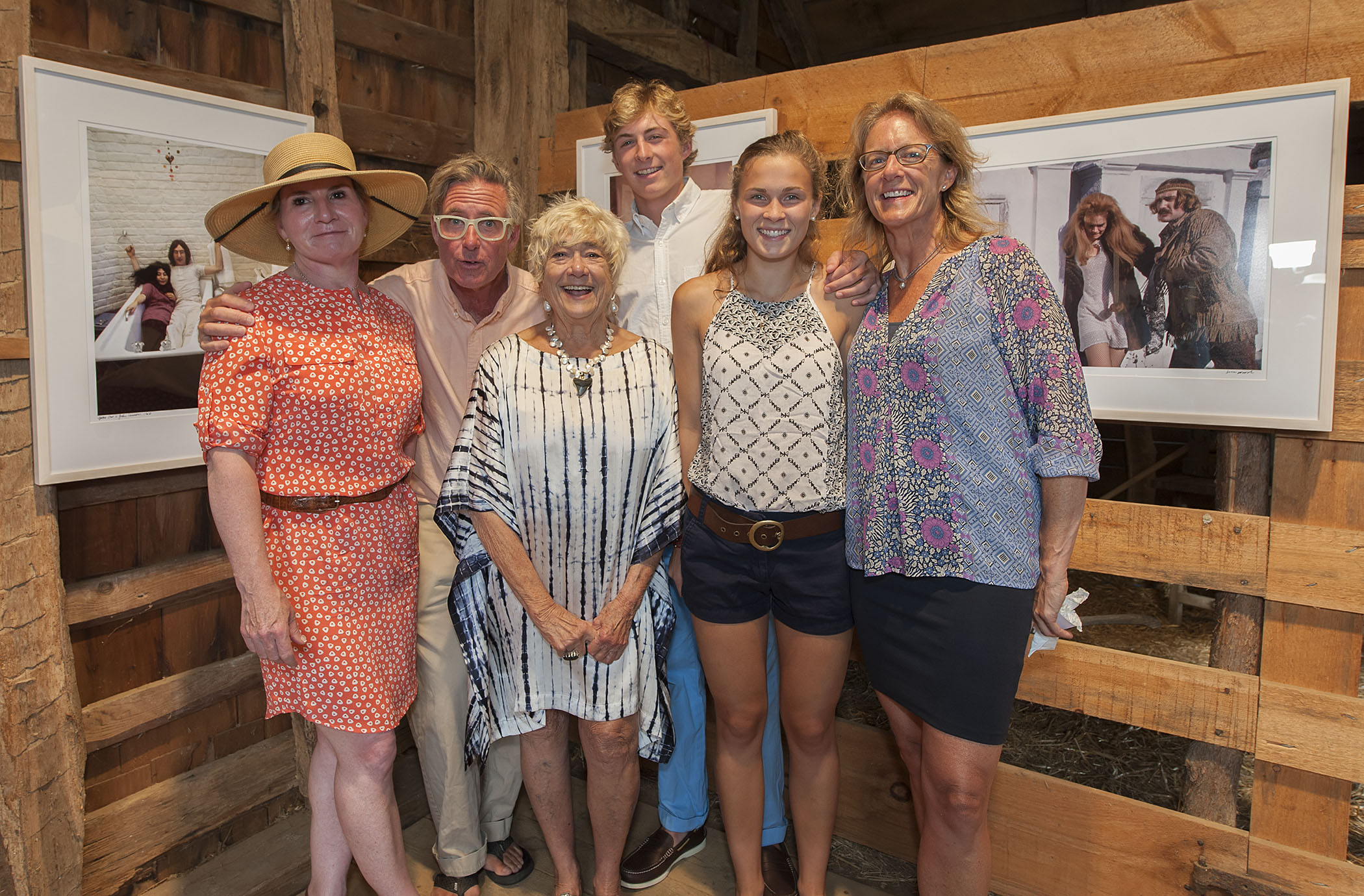(Susan with family): Leah Haggerty, Chip Haggerty, Susan Wood, Chad Haggerty, Emma Putre and Amy Weller (credit: michael heller)