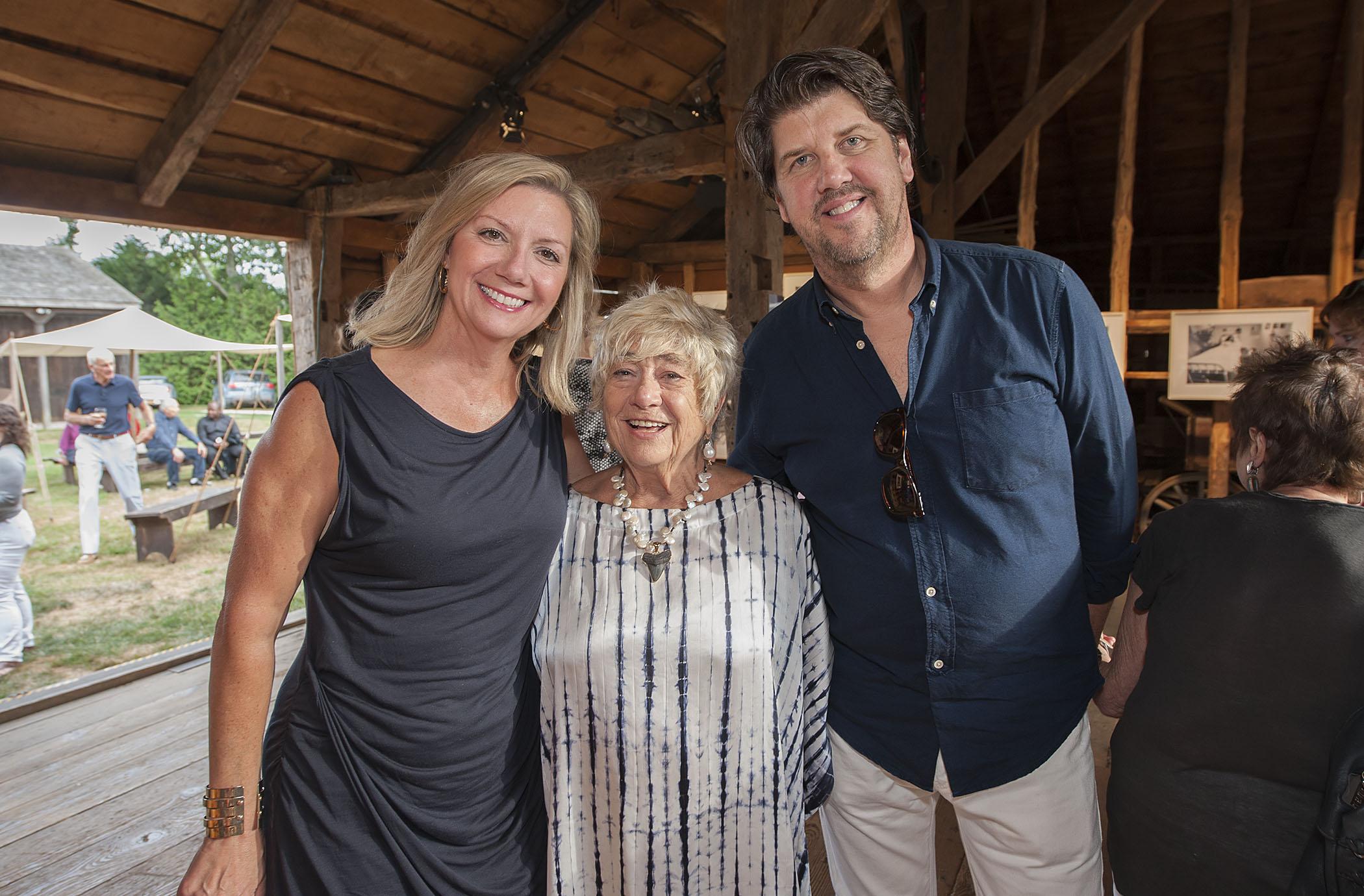 Anne Chaisson (Director of Hamptons Int'l Film Festival) Susan Wood and Jeff Gillis (credit: michael heller)