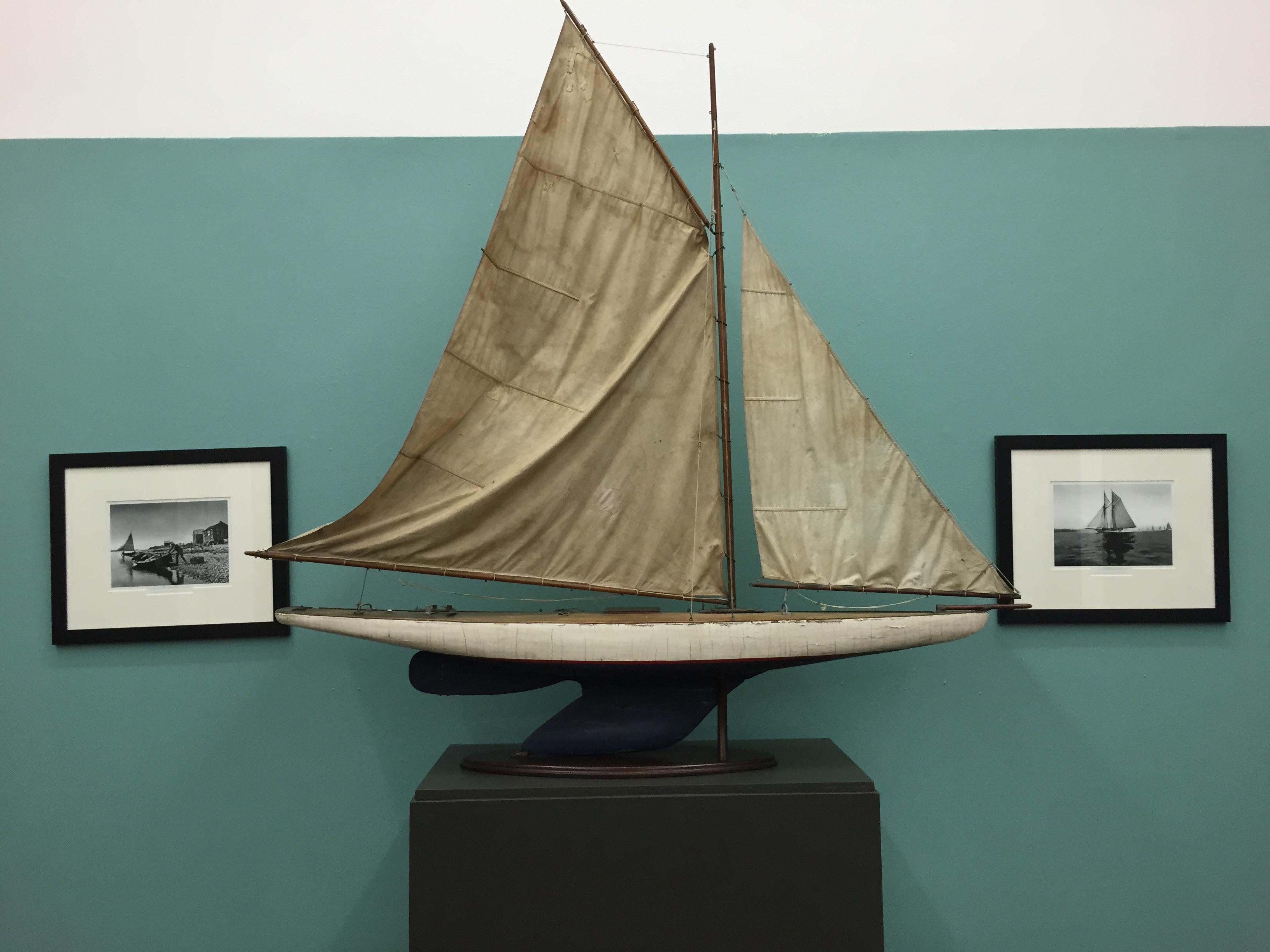 Dingies and lakeboats are on display at the Suffolk County Historical Society Museum