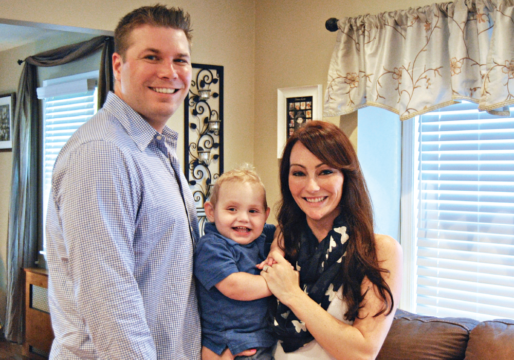 They're not just strong, they're TKO Strong! Parents Thomas and Melissa Onorato with a true fighter, son Thomas Kevin.