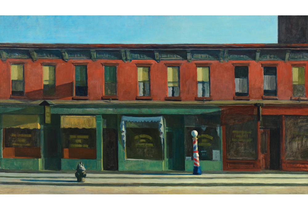 "Edward Hopper, ""Early Sunday Morning"", (1930), Oil on canvas, 35 3/16 "" x 60"
