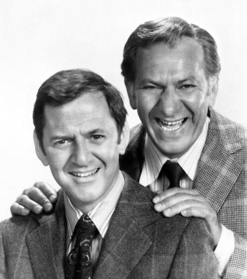 Jack Klugman (right) with Tony Randall in a 1972 publicity photo of The Odd Couple. image: ABC Television