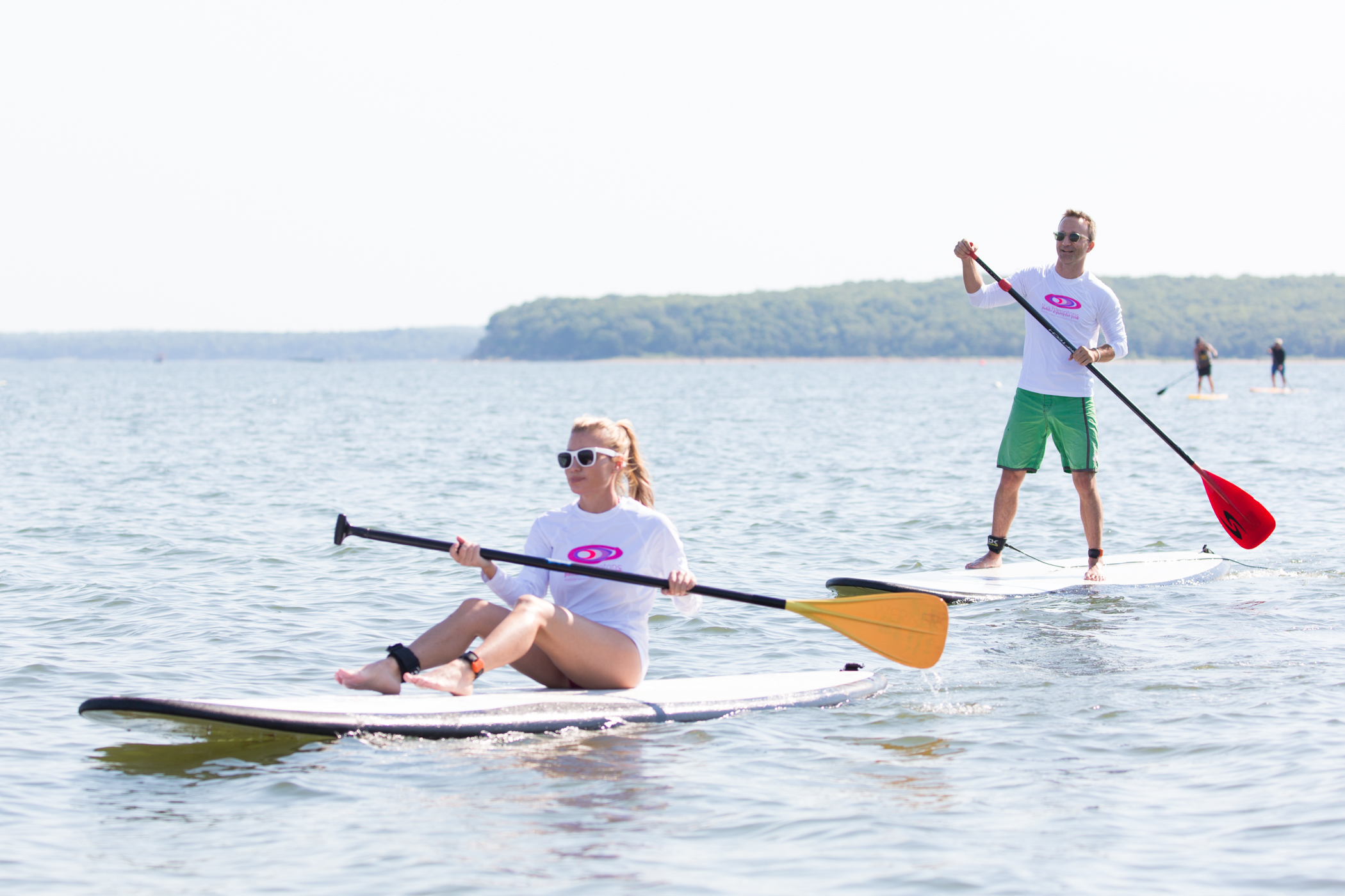 Tracy Anderson and Breckin Meyer hit the water for a great cause (credit: michael blanchard)