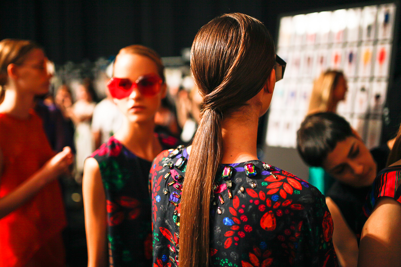 Behind the scenes at New York Fashion Week September 2013. image: creative commons (cc) photos distributed by mainstream via aveda corporation
